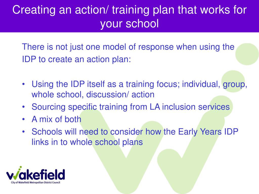 Creating an action/ training plan that works for your school
