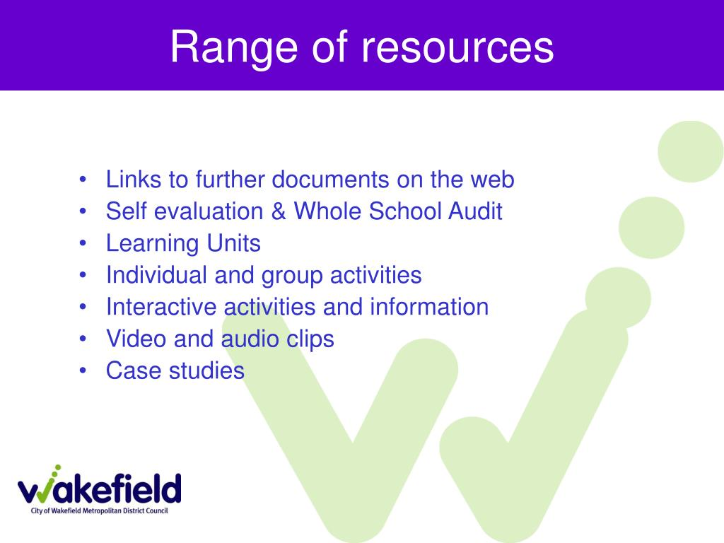 Range of resources