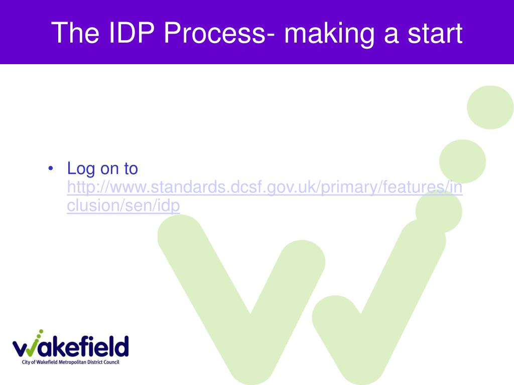 The IDP Process- making a start