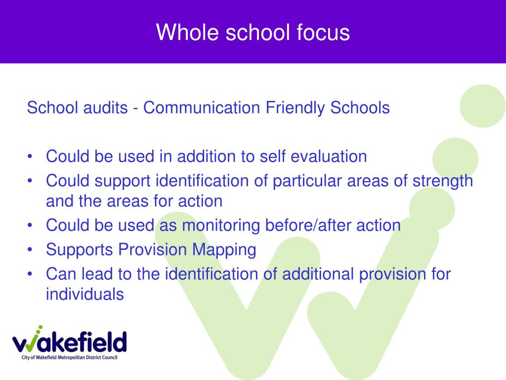Whole school focus