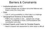 barriers constraints