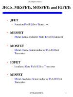 jfets mesfets mosfets and igfets