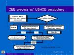 iee process w usaid vocabulary