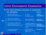 initial environmental examination