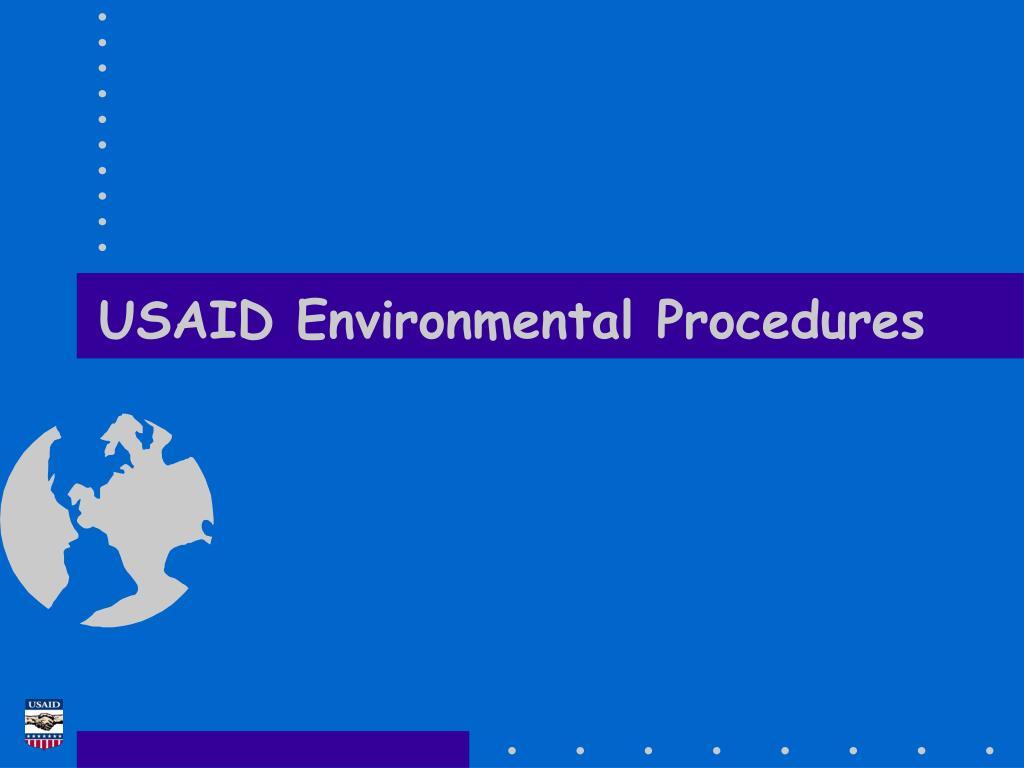 usaid environmental procedures l.