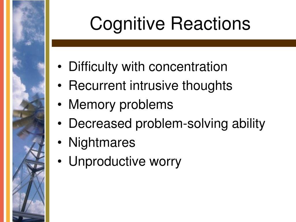 Cognitive Reactions