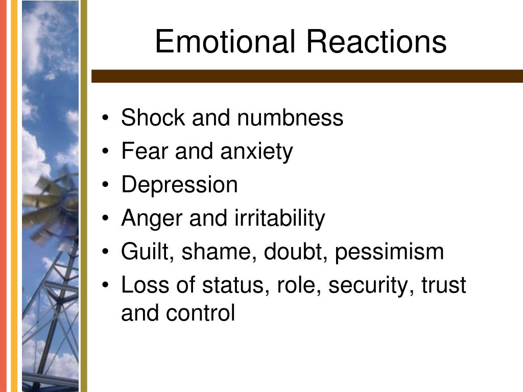 Emotional Reactions