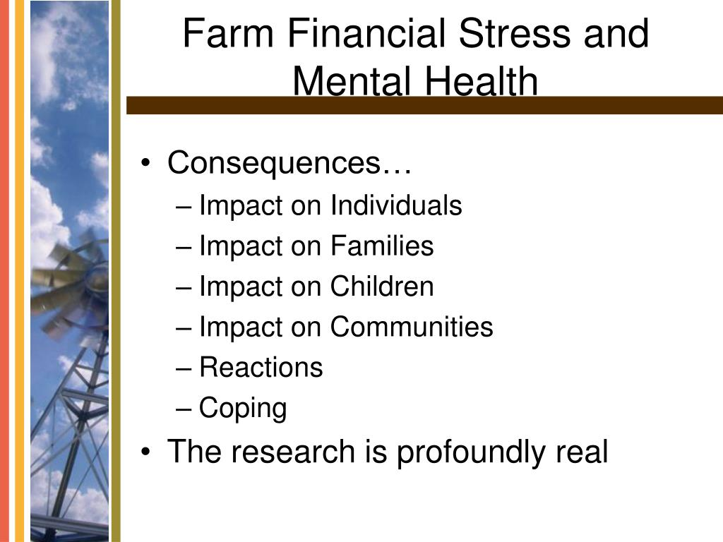 Farm Financial Stress and Mental Health