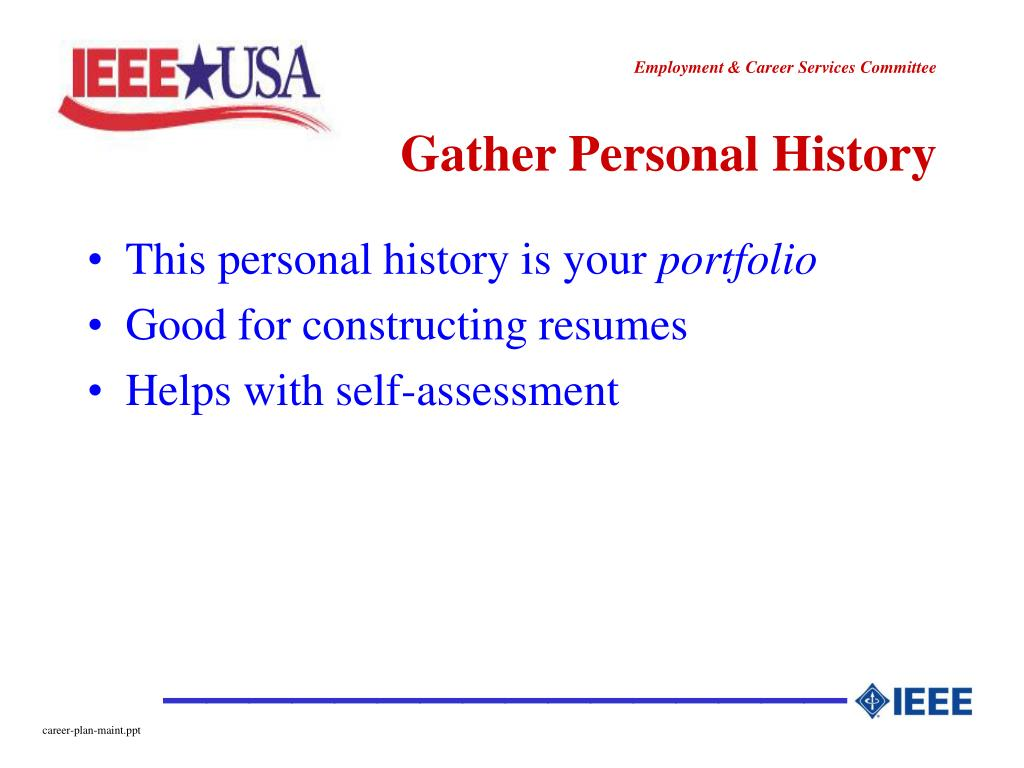 Gather Personal History