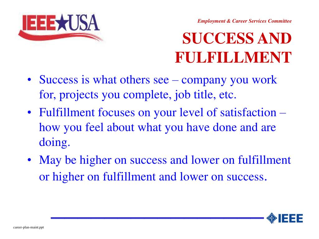 SUCCESS AND FULFILLMENT