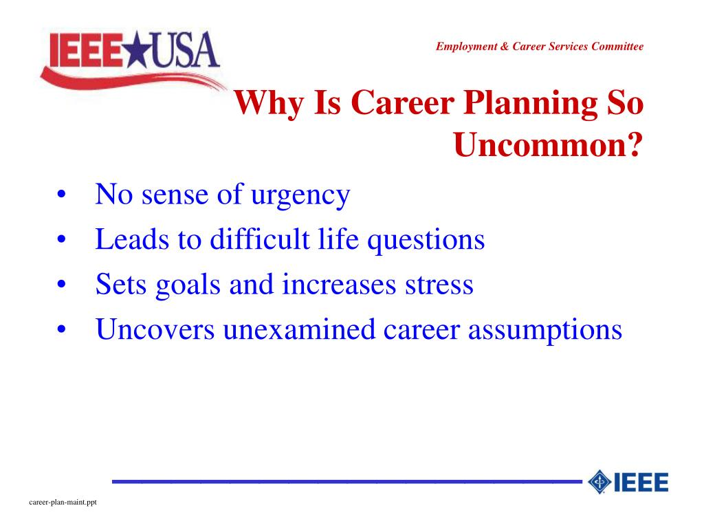 Why Is Career Planning So Uncommon?