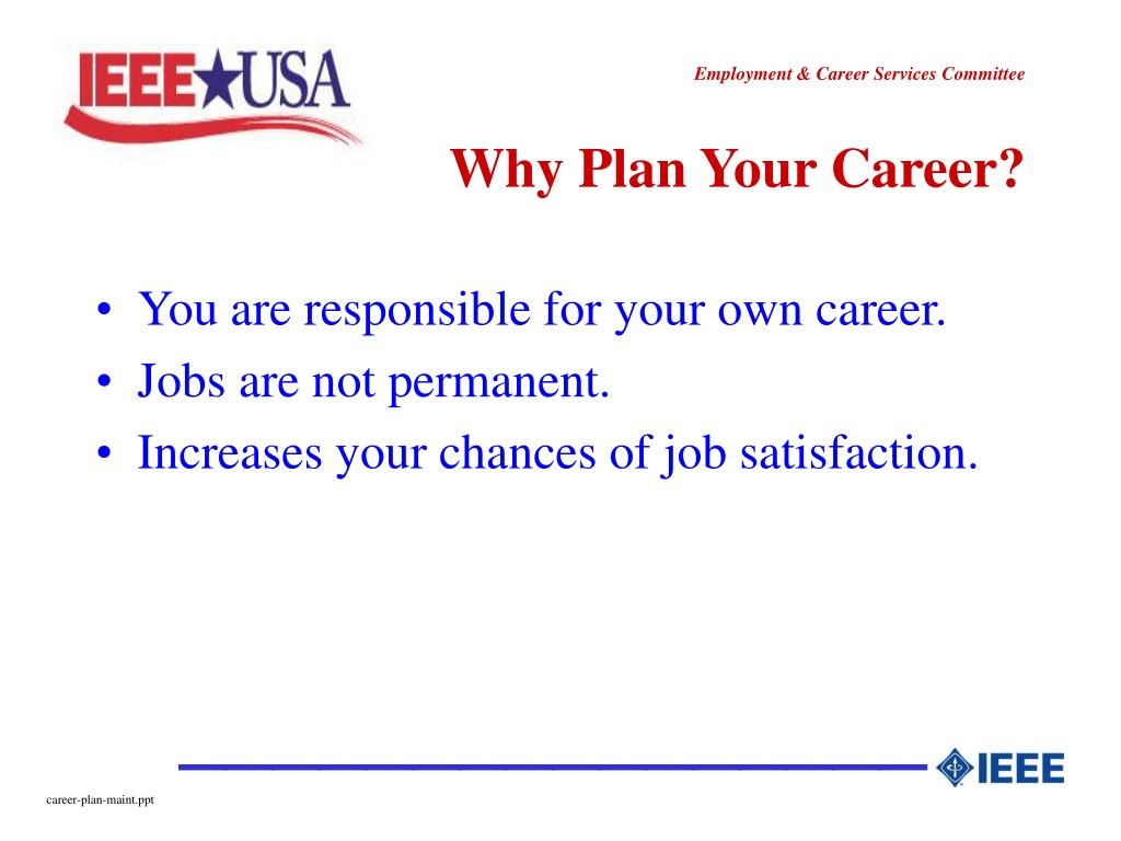 Why Plan Your Career?
