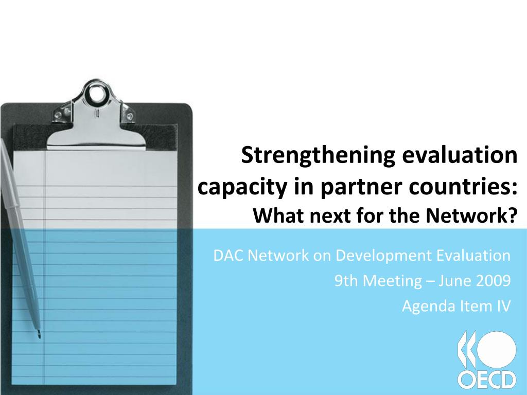 Strengthening evaluation capacity in partner countries: