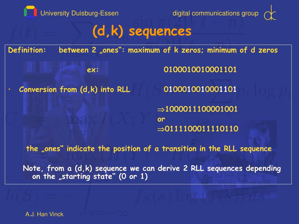 (d,k) sequences