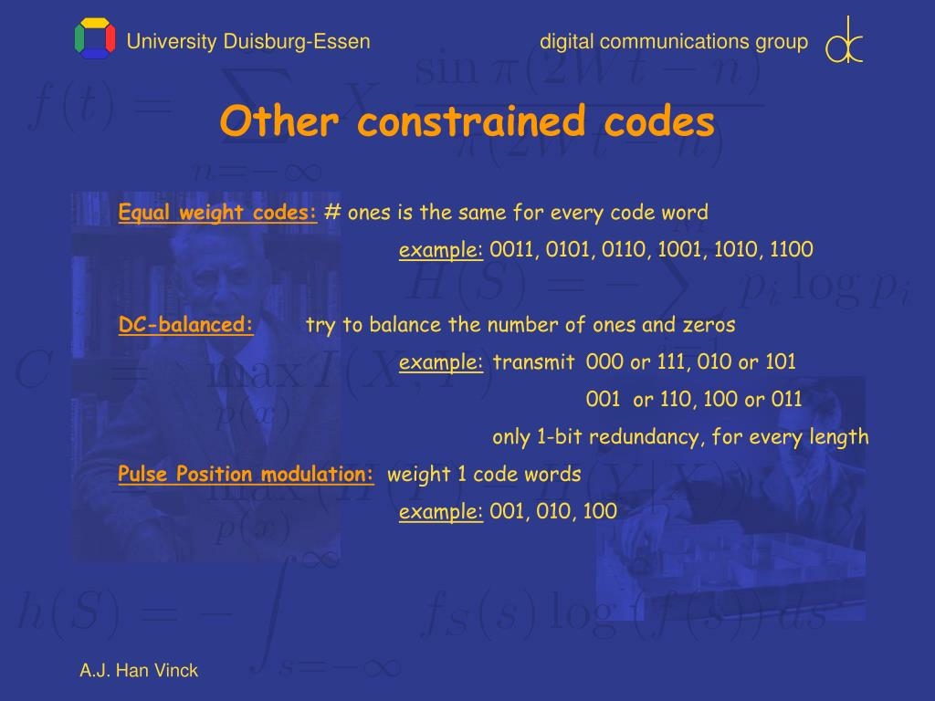 Other constrained codes