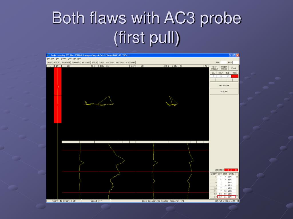 Both flaws with AC3 probe