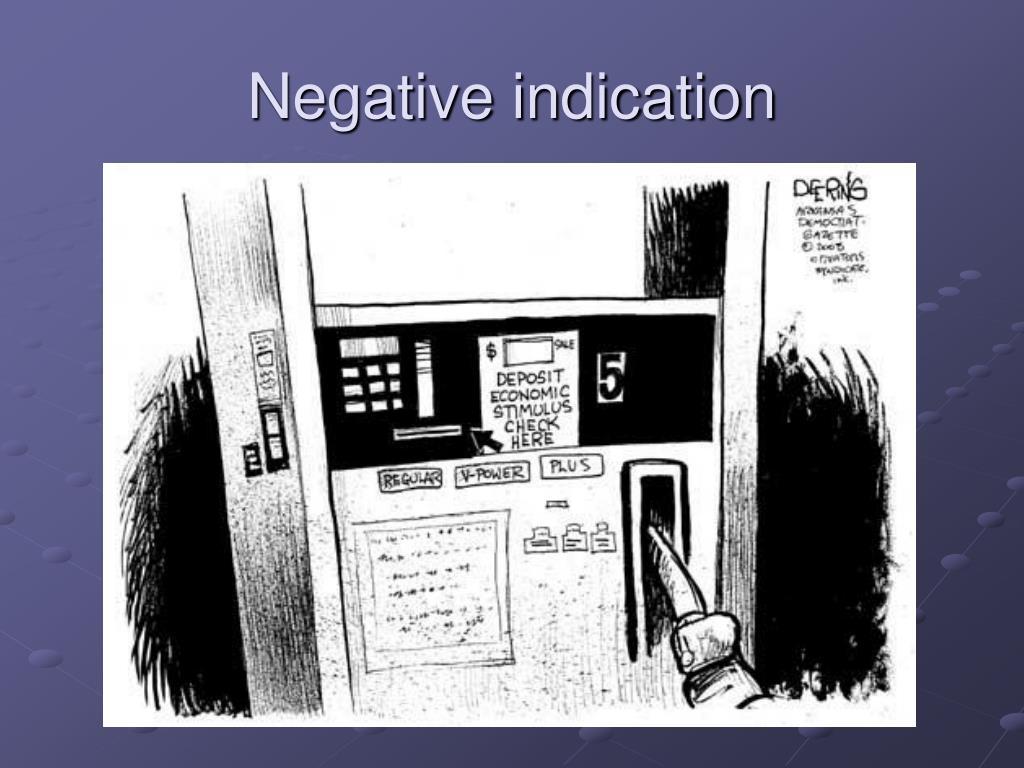 Negative indication