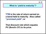 what is yield to maturity