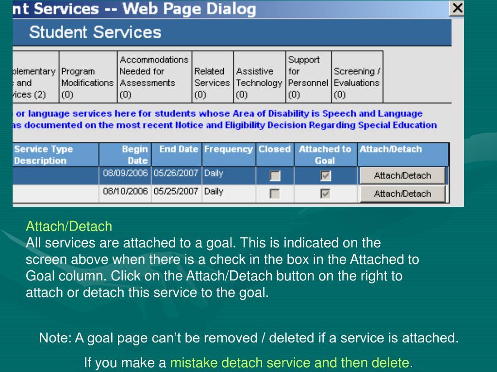 Attach/Detach