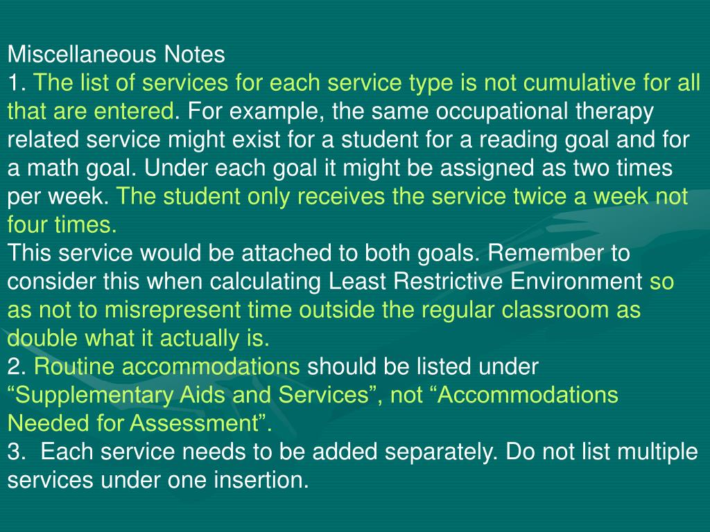 Miscellaneous Notes