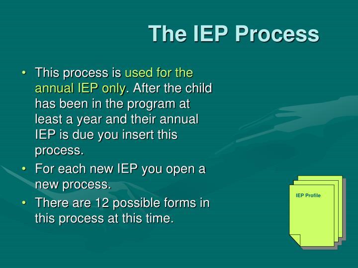 The iep process2