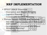 nrp implementation