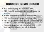 ongoing nims issues28