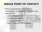 single point of contact19