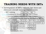 training needs with imts