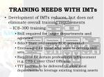 training needs with imts12