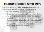 training needs with imts13