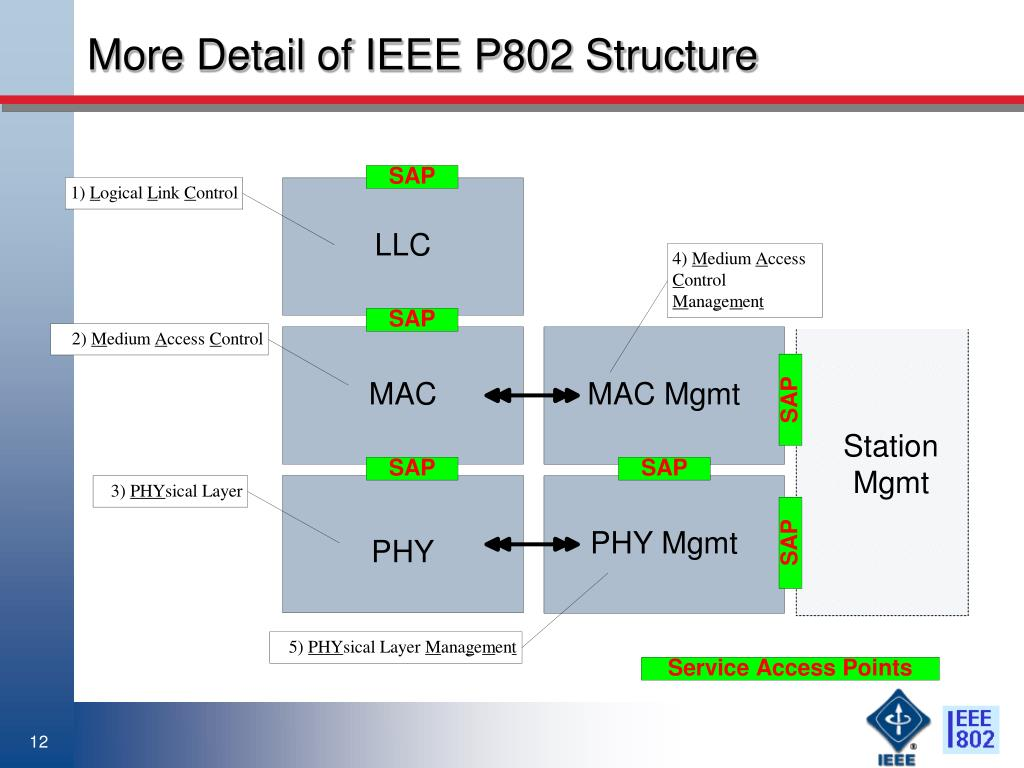 More Detail of IEEE P802 Structure