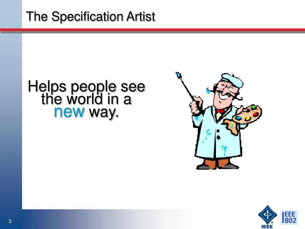 The Specification Artist