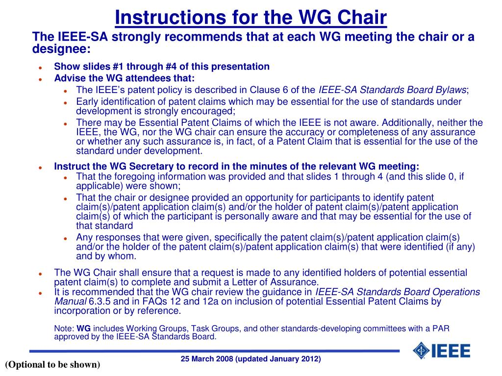 instructions for the wg chair l.
