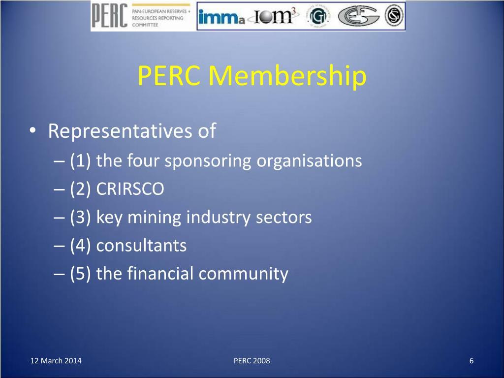 PERC Membership