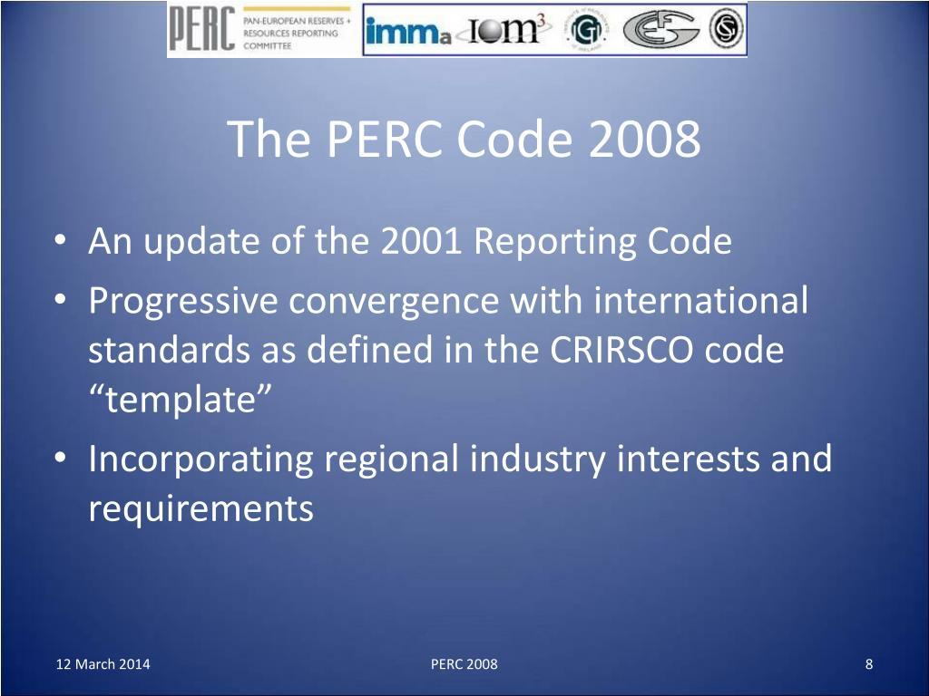 The PERC Code 2008