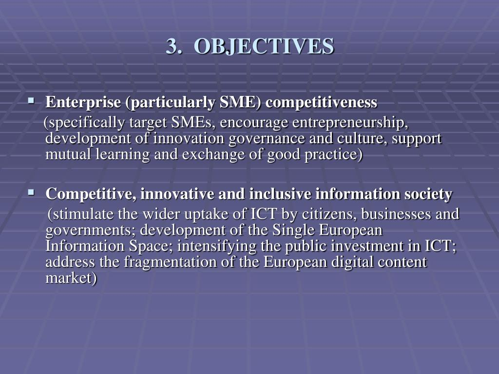3.  OBJECTIVES