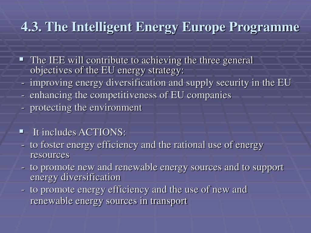 4.3. The Intelligent Energy Europe Programme