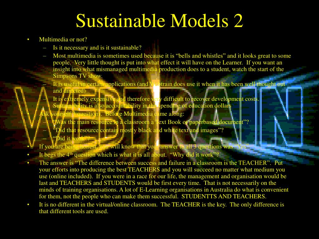 Sustainable Models
