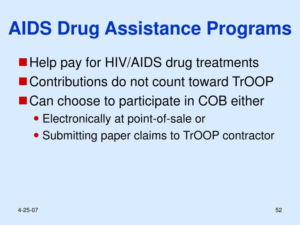 AIDS Drug Assistance Programs