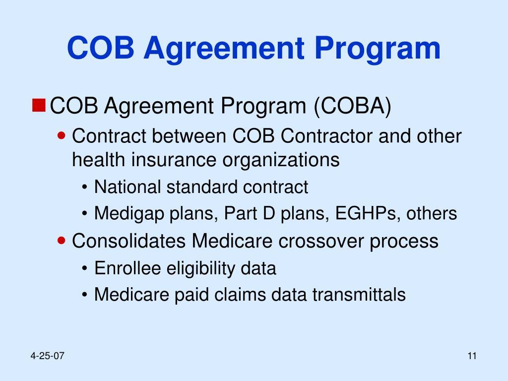 COB Agreement Program