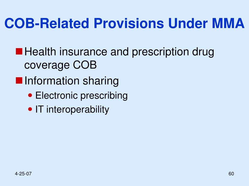 COB-Related Provisions Under MMA