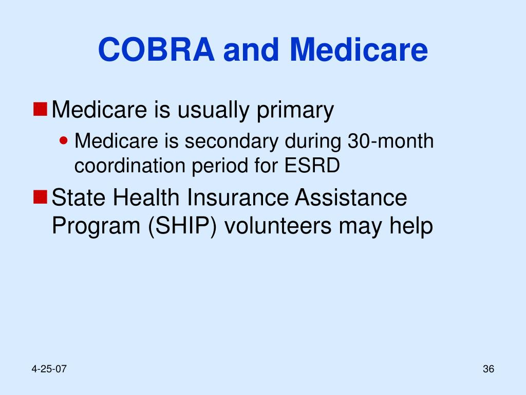 COBRA and Medicare