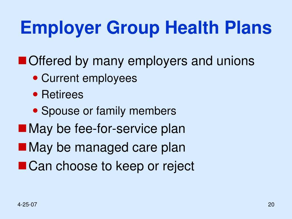 Employer Group Health Plans