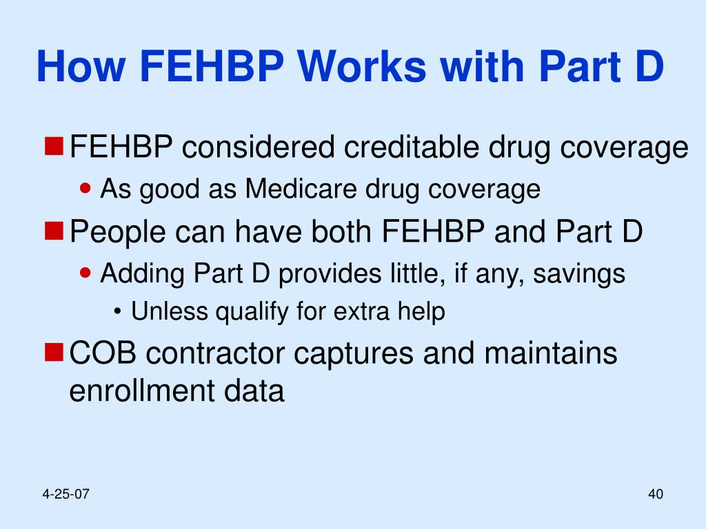 How FEHBP Works with Part D