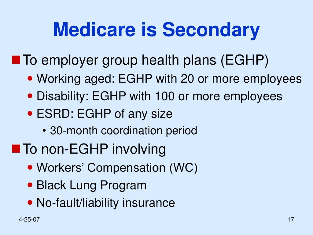 Medicare is Secondary