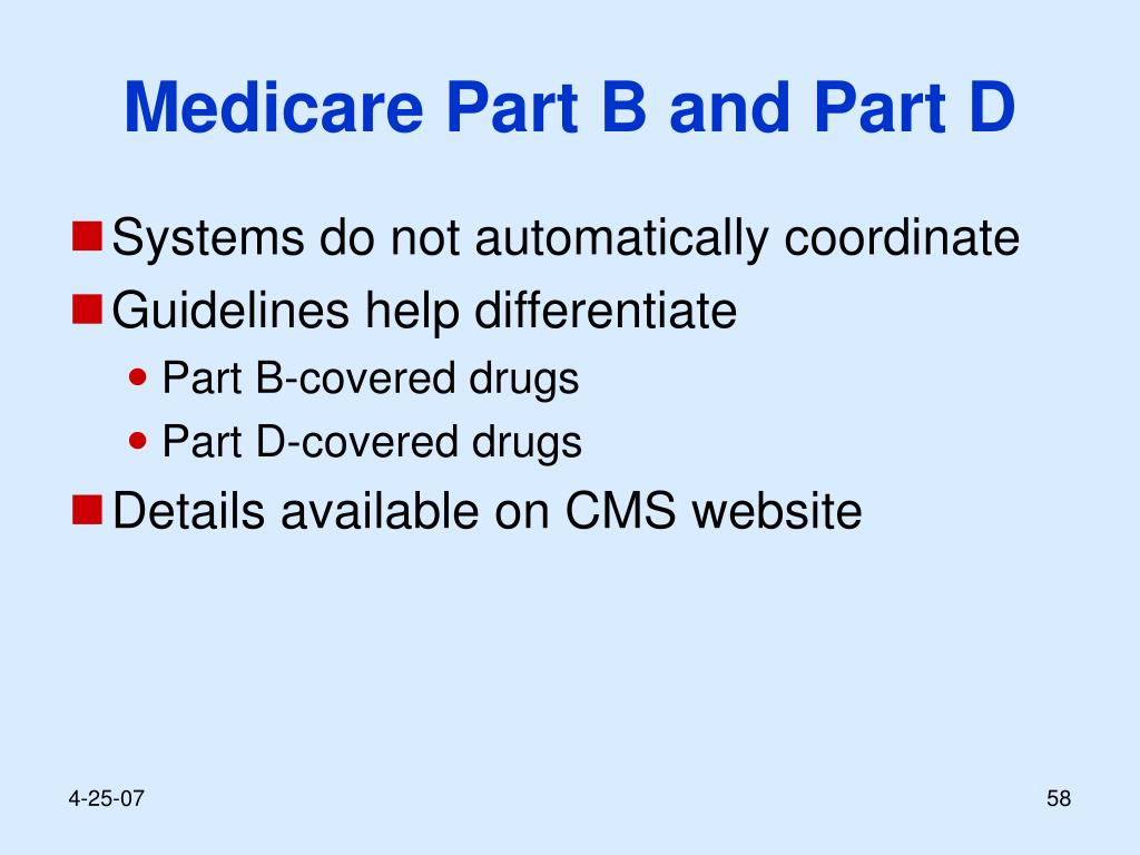 Medicare Part B and Part D