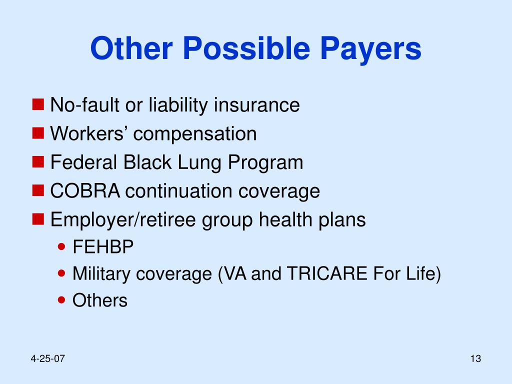 Other Possible Payers