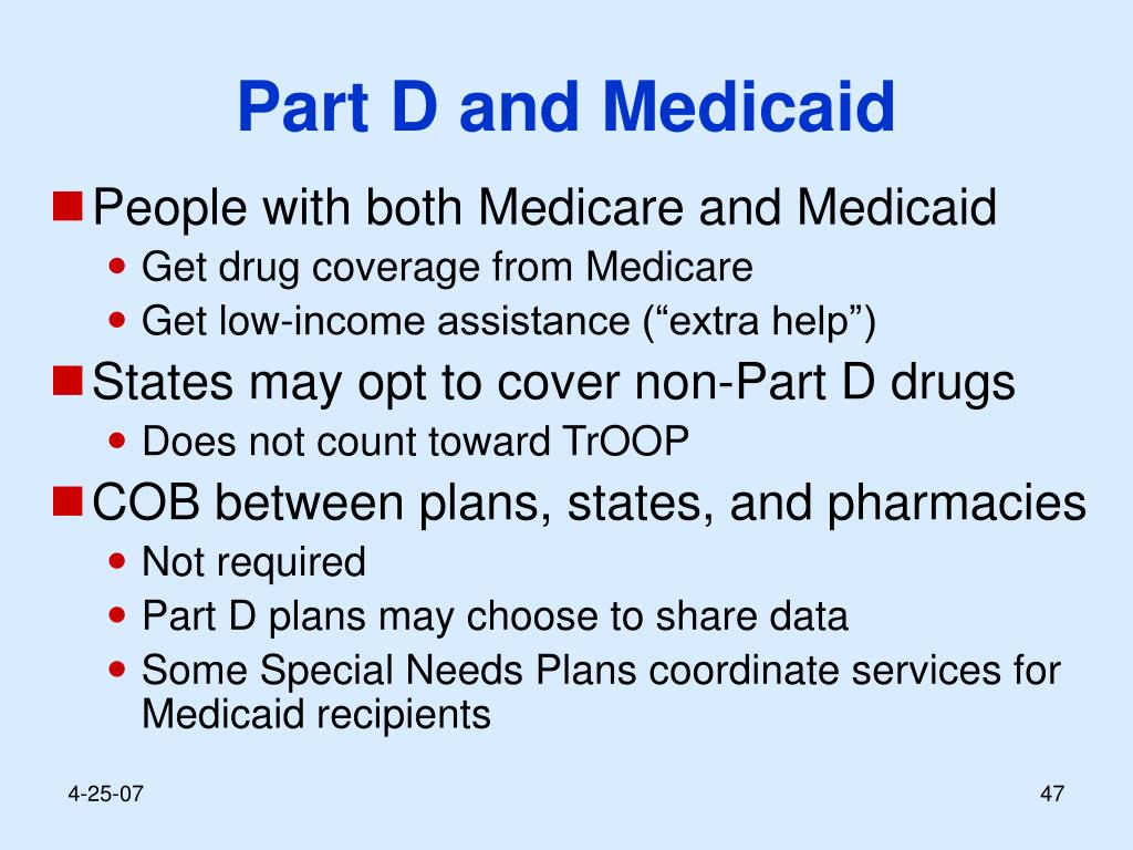 Part D and Medicaid