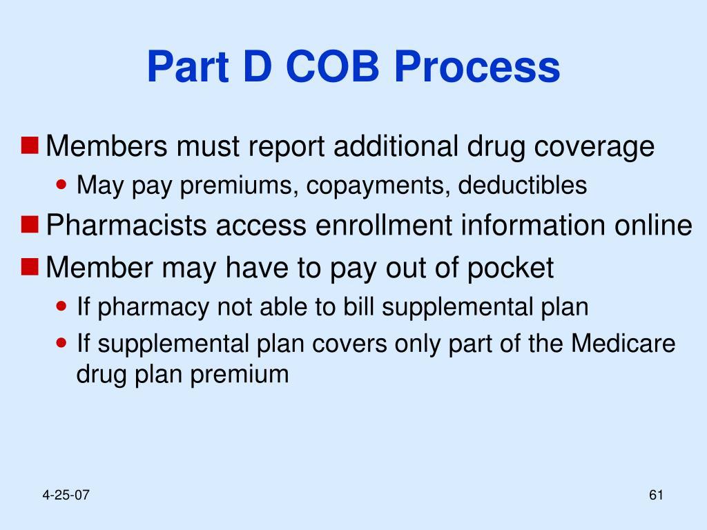 Part D COB Process
